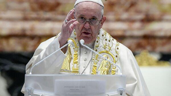 Papež František pronesl tradiční poselství Urbi et Orbi (4. 4. 2021) - Sputnik Česká republika