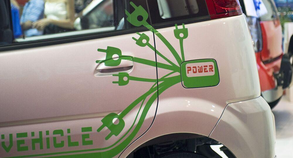 Na výstavě elektromobilů v Pekingu