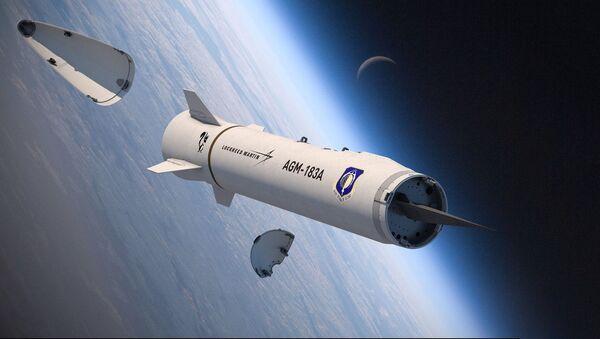 Vykreslování Zbraně AGM-183A (ARRW) ukazující její hypersonickou kluznou hlavici - Sputnik Česká republika