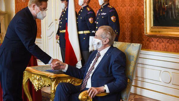 Prezident republiky Miloš Zeman jmenoval Petra Arenbergera ministrem zdravotnictví. - Sputnik Česká republika