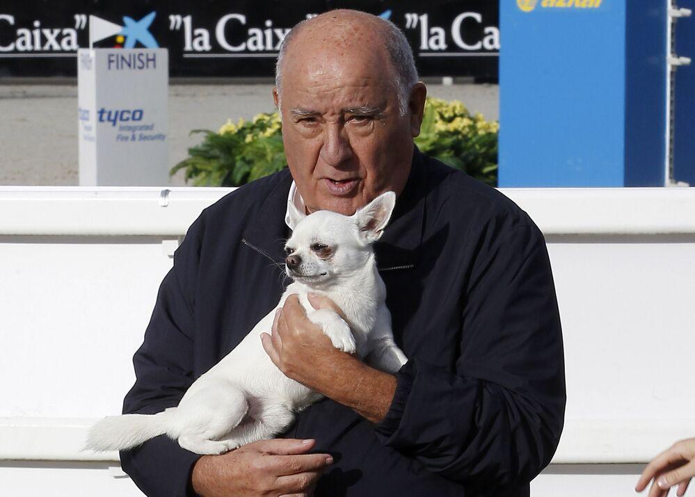 Zakladatel Inditexu Amancio Ortega, jmění - 77 mld. dolarů