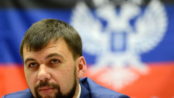 Vedoucí představitel samozvané Doněcké lidové republiky (DLR) Denis Pušilin - Sputnik Česká republika
