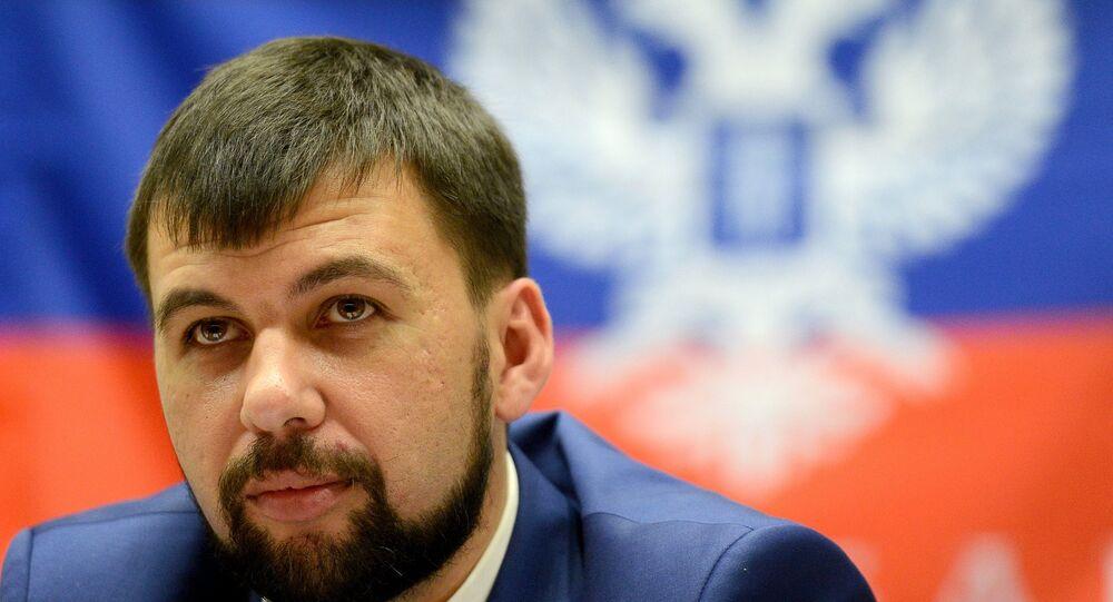 Vedoucí představitel samozvané Doněcké lidové republiky (DLR) Denis Pušilin