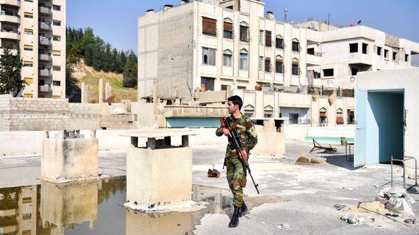 Voják v ulici Damašku. Ilustrační foto - Sputnik Česká republika