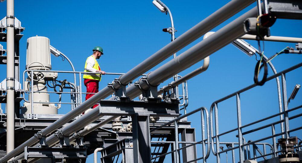 Stavba plynovodu Nord Stream 2 v Německu