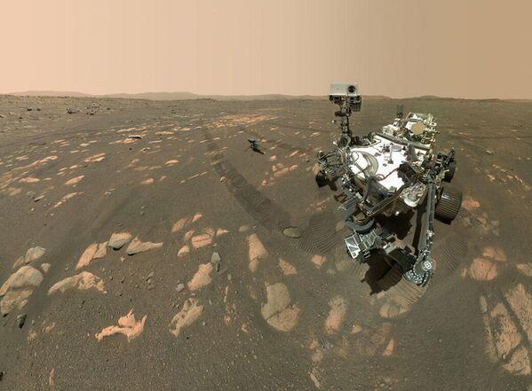 Rover NASA Perseverance si dělá selfie s vrtulníkem Ingenuity - Sputnik Česká republika