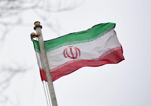 Vlajka velvyslanectví Íránské islámské republiky