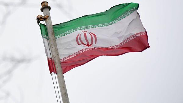 Vlajka velvyslanectví Íránské islámské republiky - Sputnik Česká republika