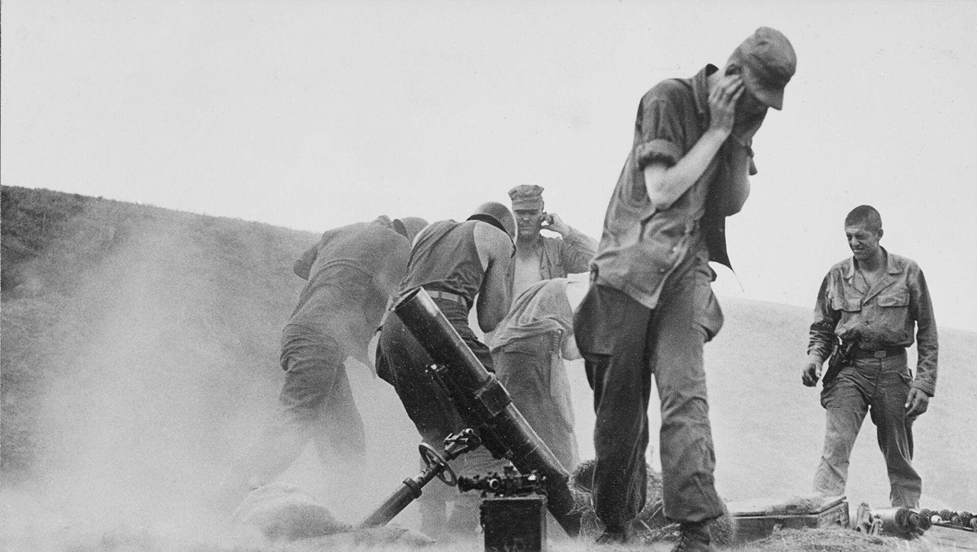 Jednotky OSN během bojů v Jižní Koreji, 1950 - Sputnik Česká republika, 1920, 20.04.2021