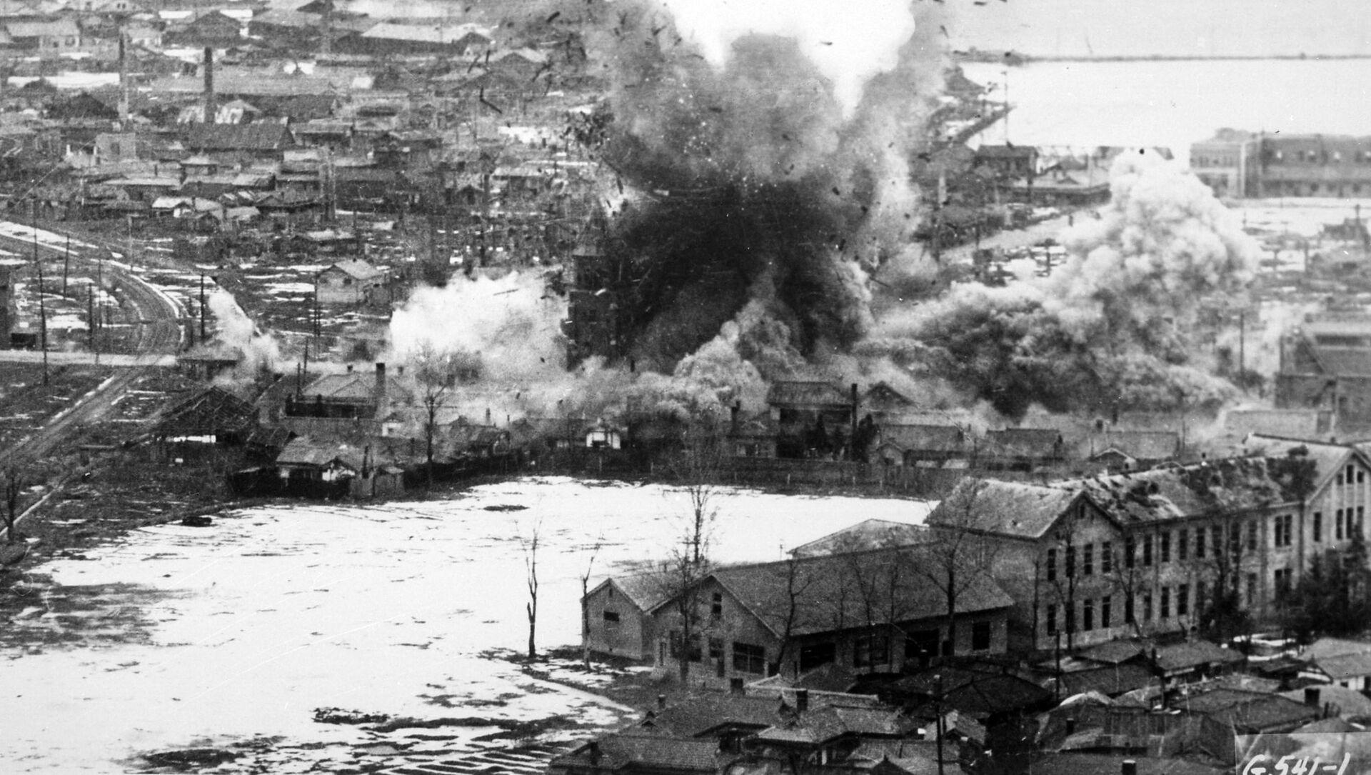 Útok bombardérů B-26 ve Wonsanu v Severní Koreji, 1951 - Sputnik Česká republika, 1920, 20.04.2021