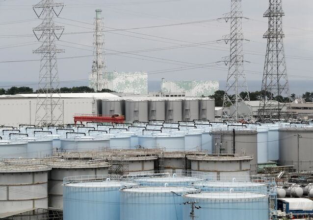 Pohled na Jadernou elektrárnu Fukušima