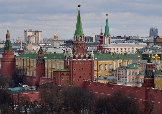 Pohled na Kreml v Moskvě