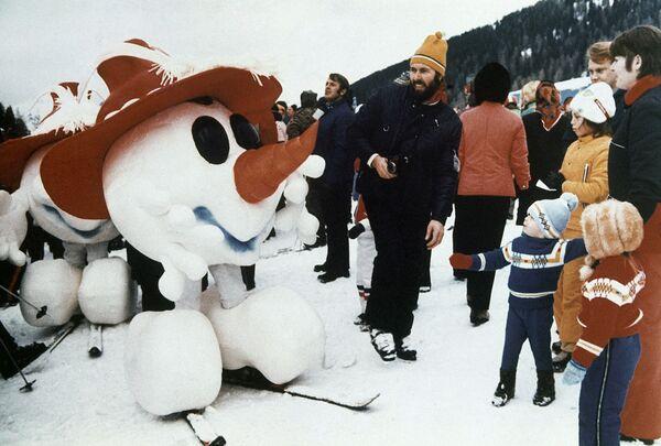 Maskot Zimních olympijských her v roce 1976 v rakouském Innsbrucku. - Sputnik Česká republika