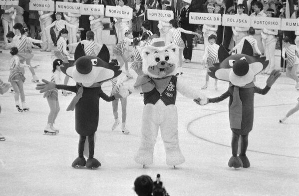 Vlk Vučko, symbol Zimních olympijských her v Sarajevu v Jugoslávii, 1984. - Sputnik Česká republika