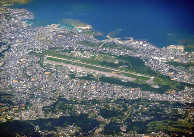 Americká základna Futenma na Okinawě v Japonsku