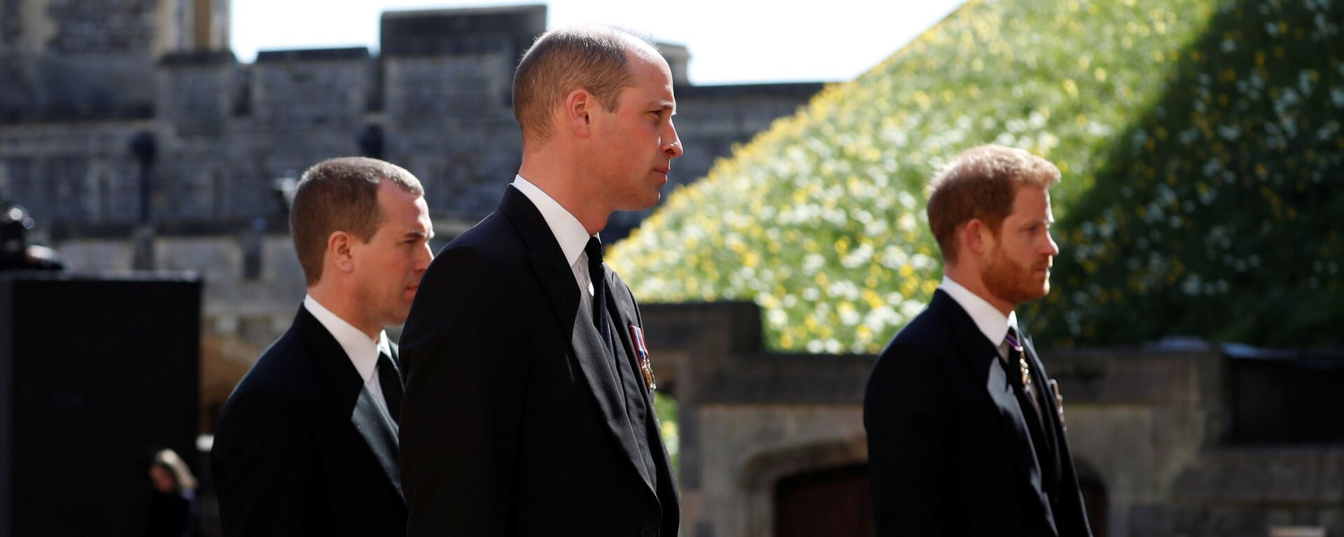 William a Harry na pohřbu prince Philipa - Sputnik Česká republika, 1920, 17.04.2021