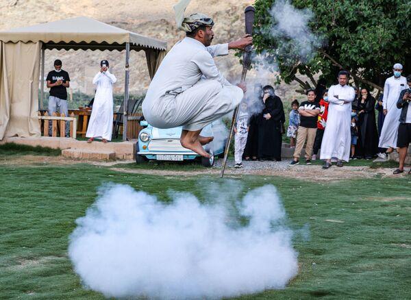 Oslavy spojené s nastoupením posvátného muslimského měsíce Ramadán v Saúdské Arábii.  - Sputnik Česká republika