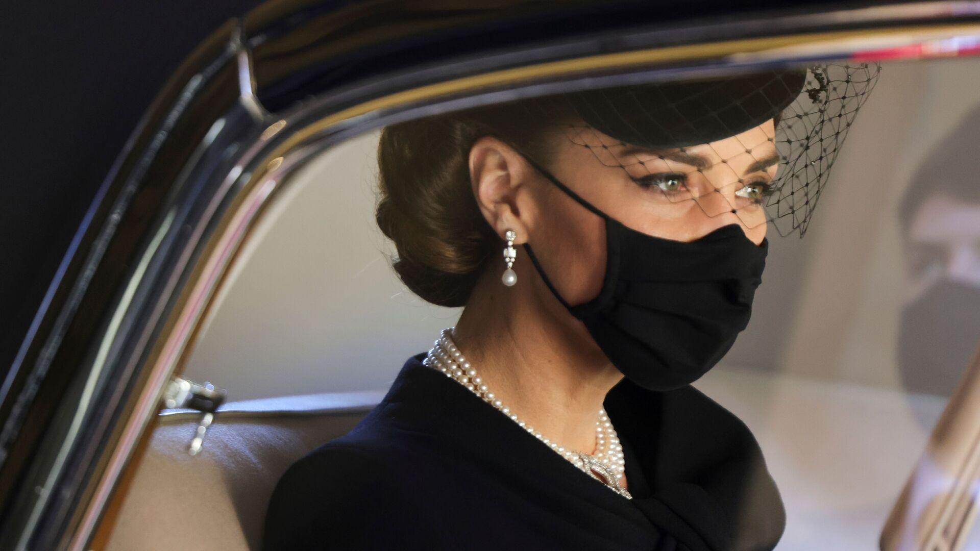 Kate Middletonová na pohřbu prince Philipa - Sputnik Česká republika, 1920, 18.04.2021