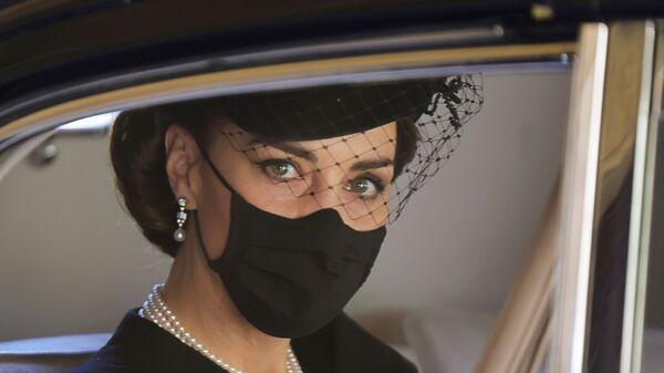 Kate Middletonová na pohřbu prince Philipa - Sputnik Česká republika