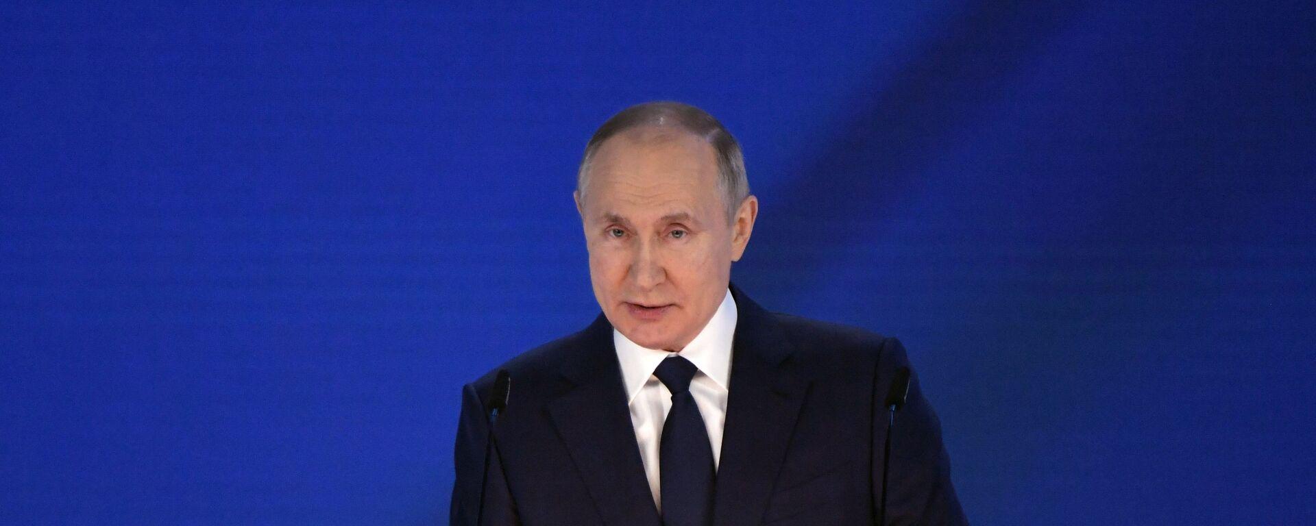 Ruský prezident Vladimir Putin vystupuje s posláním Federálnímu shromáždění (21. 04. 2021) - Sputnik Česká republika, 1920, 12.06.2021