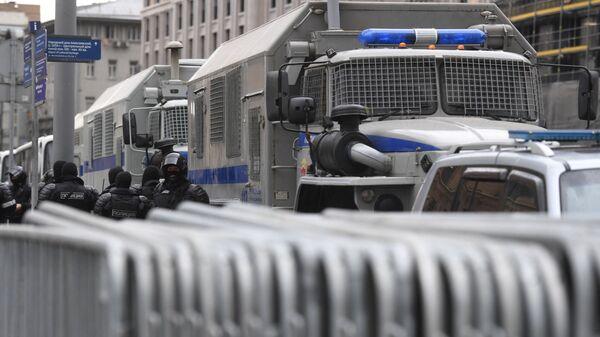 Автозаки в центре Москвы - Sputnik Česká republika