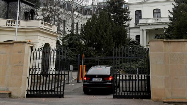 Здание посольства России в Праге, Чехия - Sputnik Česká republika