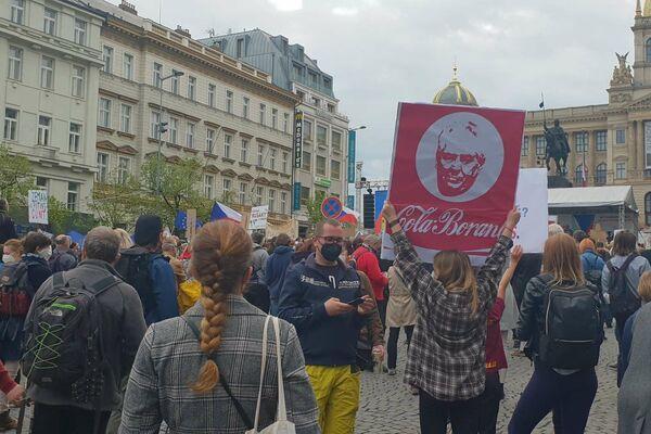 Demonstrace Chvilkařů na Václaváku - Sputnik Česká republika