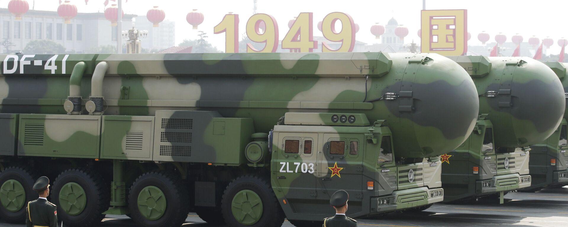 Čínský mezikontinentální raketomet DF-41 - Sputnik Česká republika, 1920, 01.05.2021