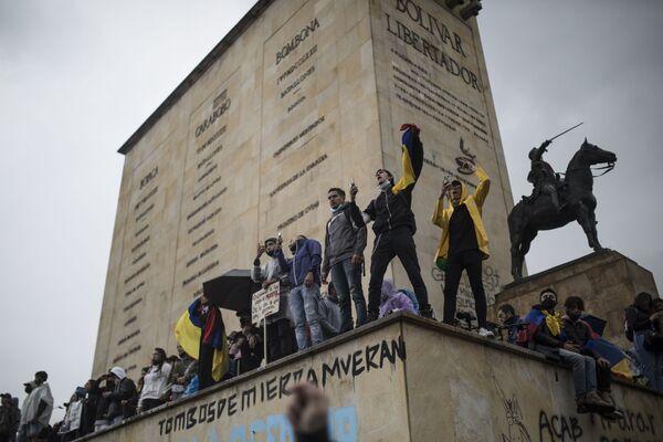Protivládní protesty v Bogotě, Kolumbie. - Sputnik Česká republika