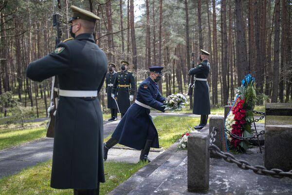 Litevští vojáci během slavnostního ceremoniálu ve Vilniusu. - Sputnik Česká republika
