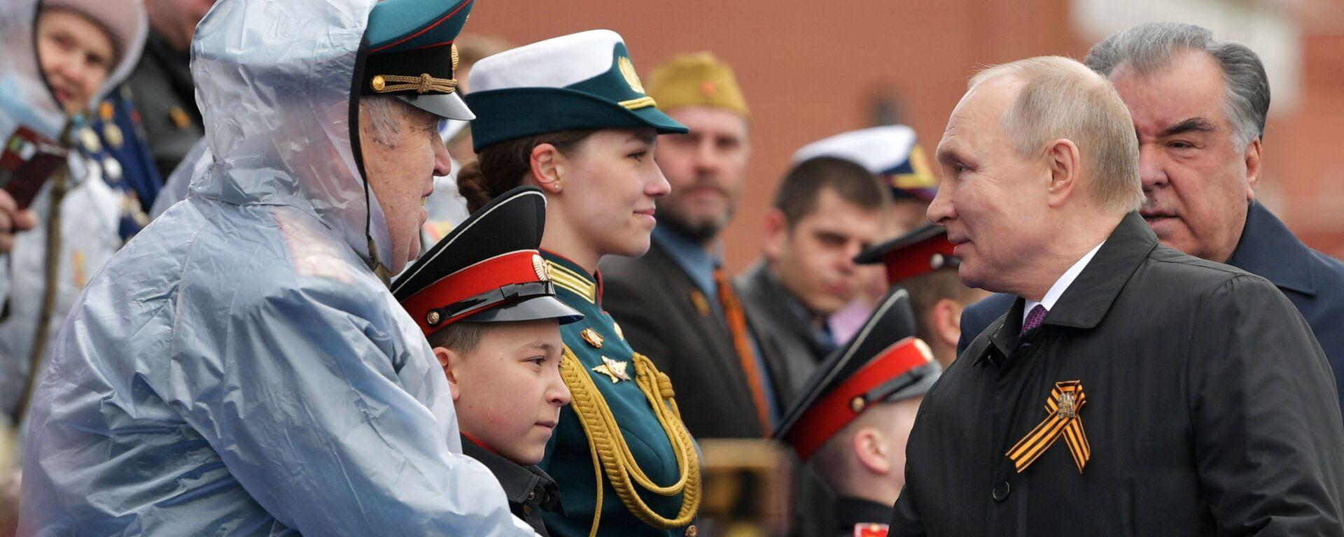 Prezident Putin na vojenské přehlídce na počest 76. výročí vítězství ve Velké vlastenecké válce - Sputnik Česká republika, 1920, 09.05.2021