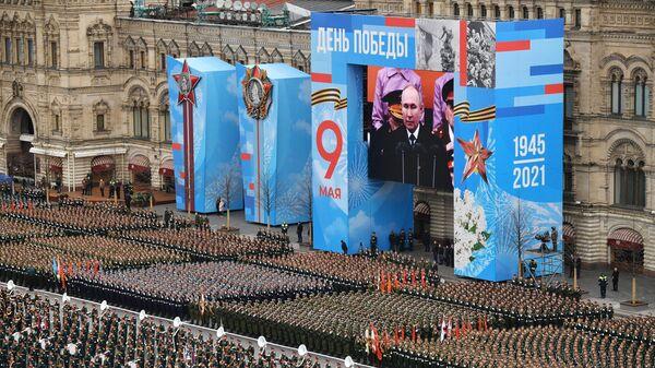 Военнослужащие парадных расчетов на военном параде в честь 76-й годовщины Победы в Москве - Sputnik Česká republika