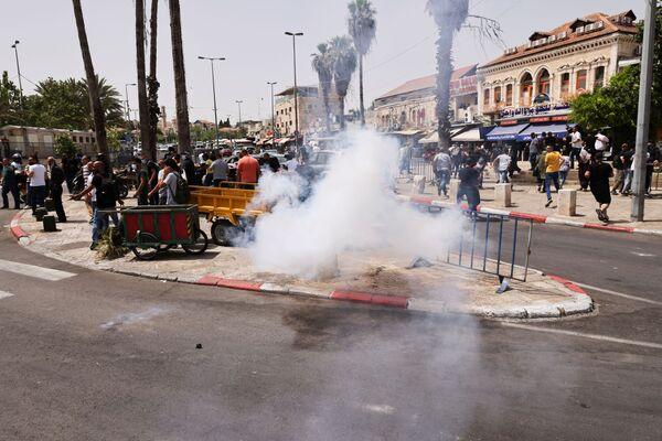 Střety Palestinců s izraelskými bezpečnostními silami v jeruzalémském Starém Městě. - Sputnik Česká republika