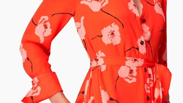Платье Carolina Herrera с цветочным принтом - Sputnik Česká republika
