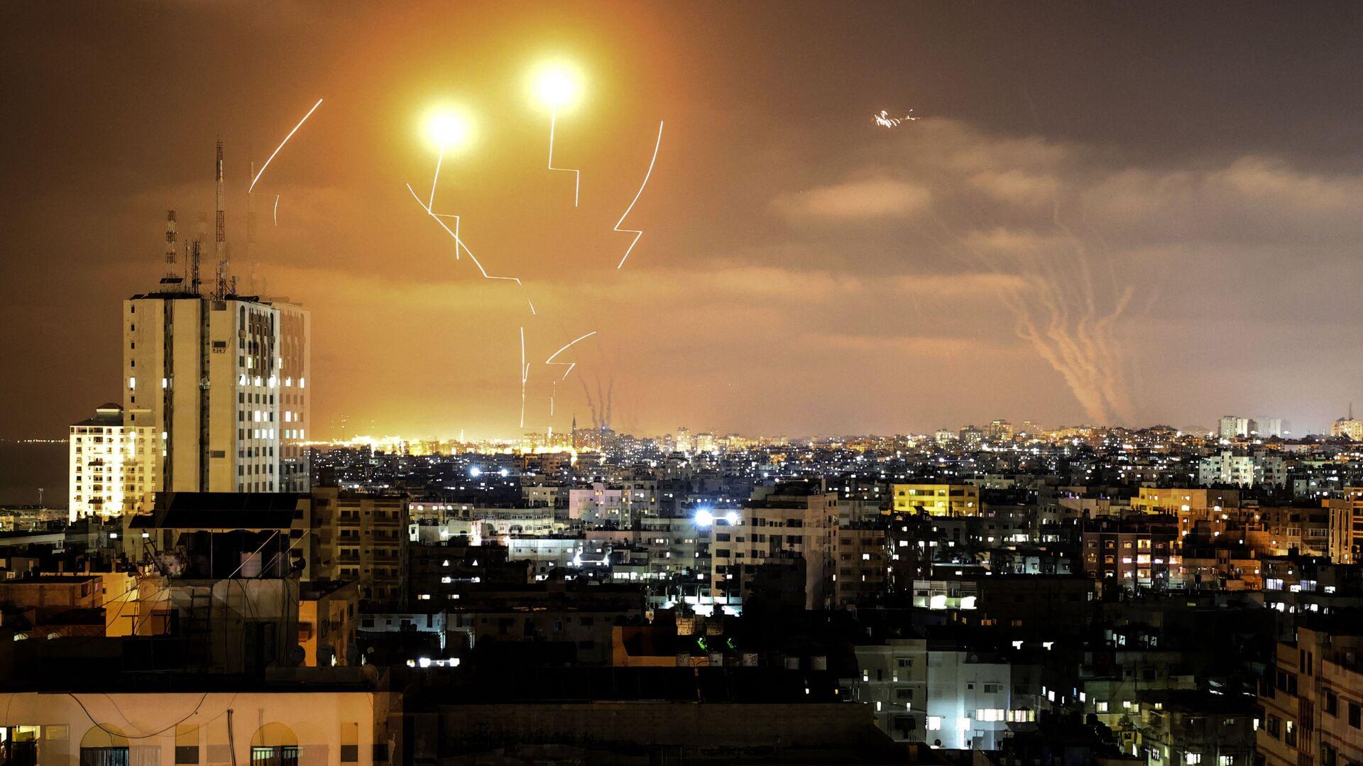 Rakety odpálené z Pásma Gazy na Izrael - Sputnik Česká republika, 1920, 13.05.2021