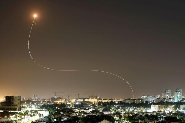 Zachycení raket z Pásma Gazy na Izrael - Sputnik Česká republika