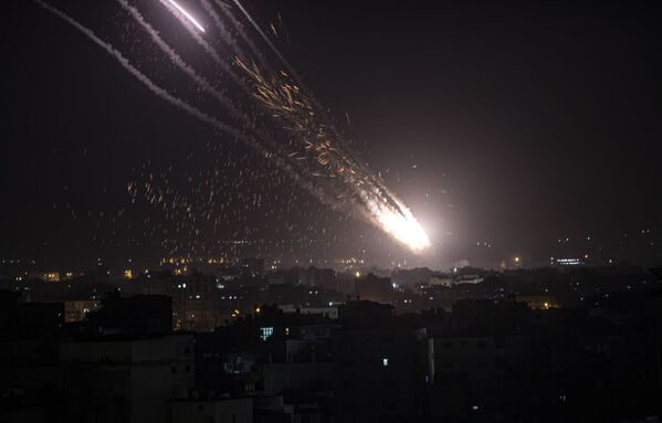 Raketový start na Izrael v Pásmu Gazy - Sputnik Česká republika