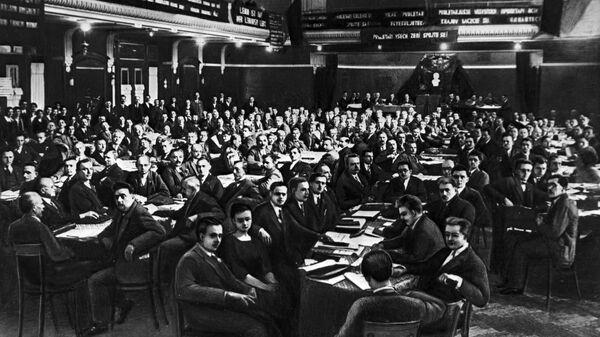Картина III съезд Коммунистической партии Чехословакии, 1925 год - Sputnik Česká republika