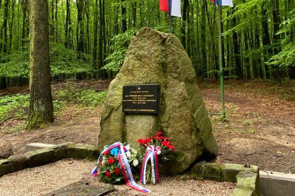 Pamätník vojakov Ivana Semjonoviča Gorjunova a Nikolaja Ivanoviča Jefimuškina - Sputnik Česká republika