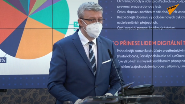 Členové vlády vystupují s výsledky po jednání - Sputnik Česká republika