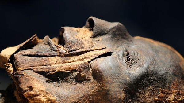 Мумия в новом музее в международном аэропорту Каира, Египет - Sputnik Česká republika