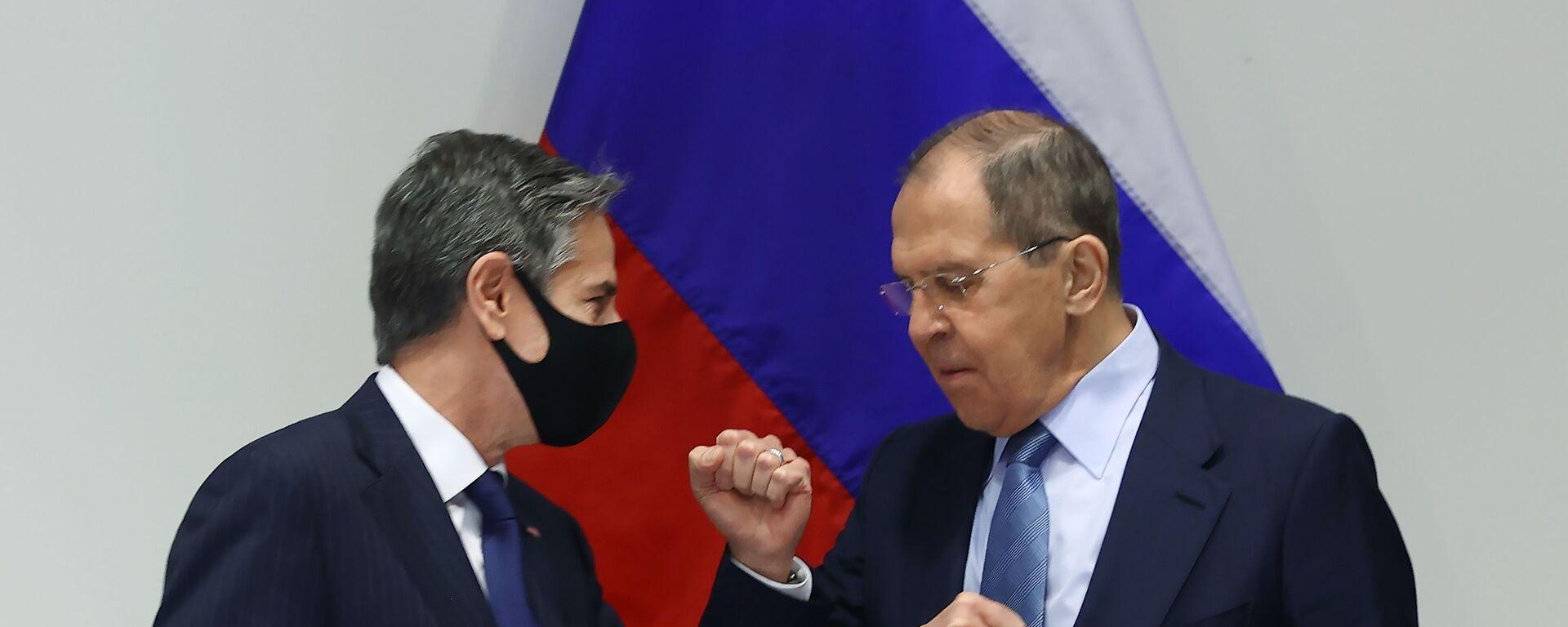 Ministři zahraničí Ruska a USA - Sergej Lavrov a Antony Blinken - Sputnik Česká republika, 1920, 20.05.2021