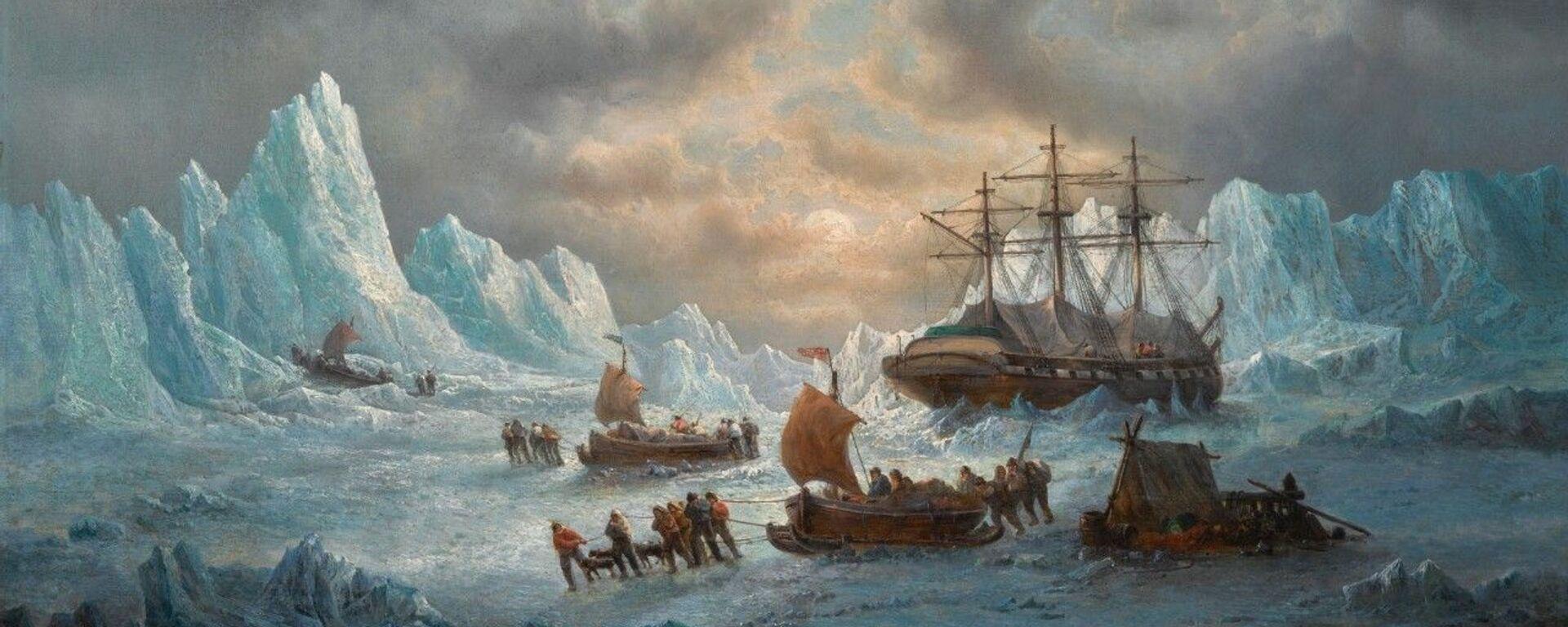 Obraz Françoise Musina Hledání sira Johna Franklina v Arktidě - Sputnik Česká republika, 1920, 20.05.2021