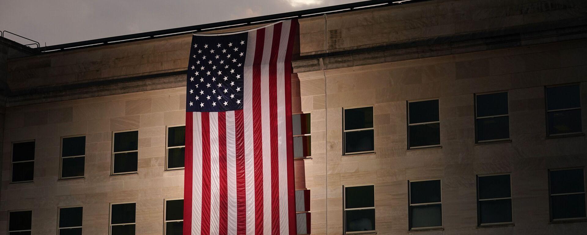 Americká vlajka na budově Pentagonu - Sputnik Česká republika, 1920, 21.05.2021