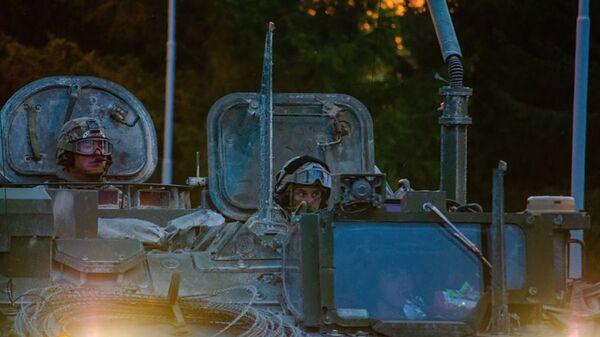Конвой НАТО по дороге на учения Saber Guardian 2021 в Чехии - Sputnik Česká republika