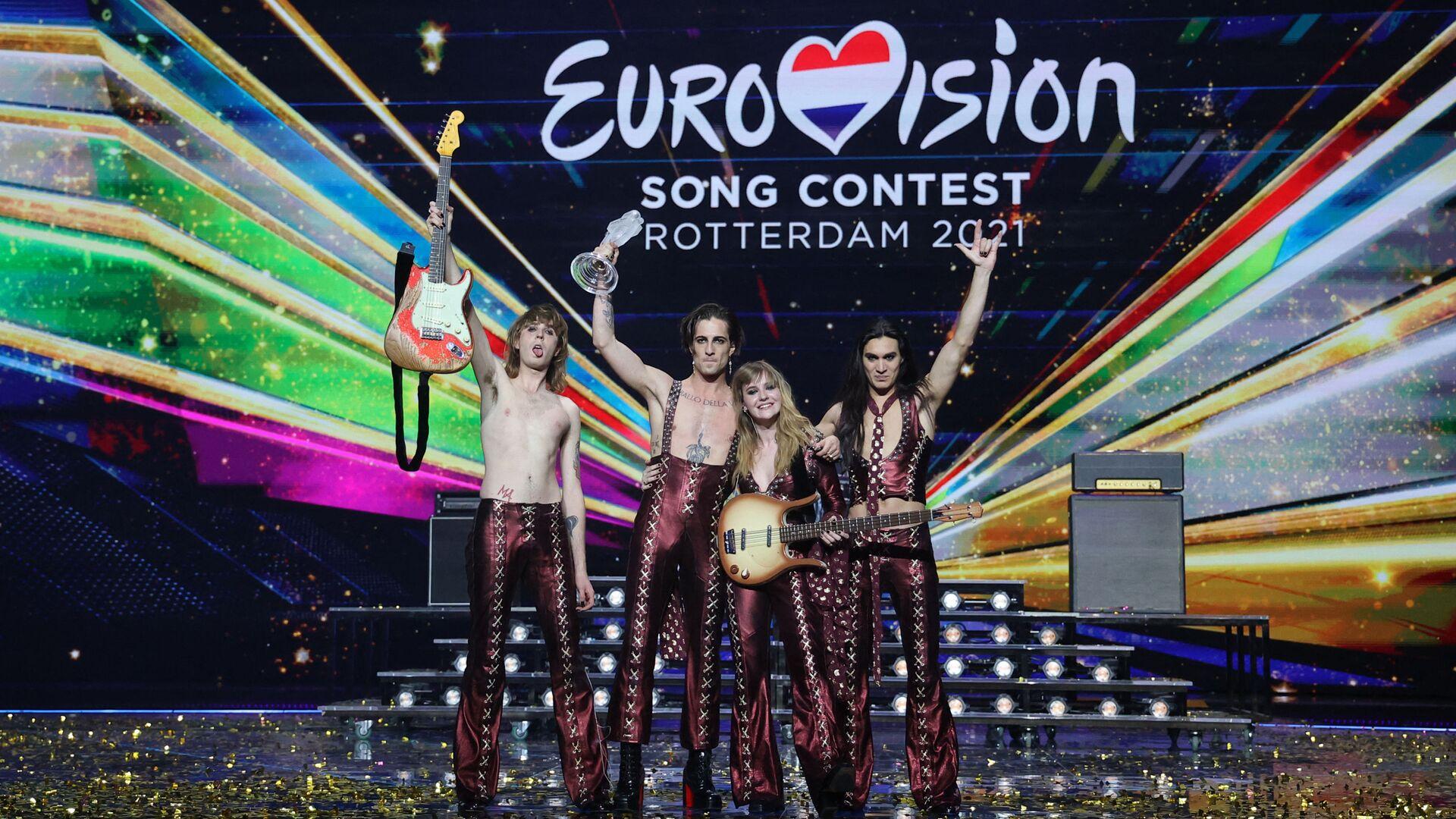 Skupina Maneskin (Itálie), vítěz mezinárodní soutěže Eurovision-2021 - Sputnik Česká republika, 1920, 23.05.2021