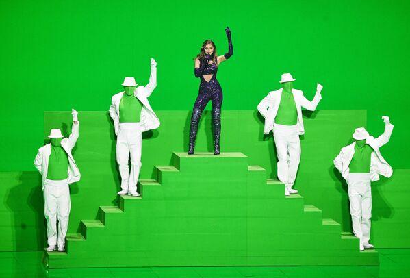 Řecká zpěvačka Stephanie vystupuje na zkoušce druhého semifinále soutěže Eurovision Song Contest-2021 v Rotterdamu - Sputnik Česká republika