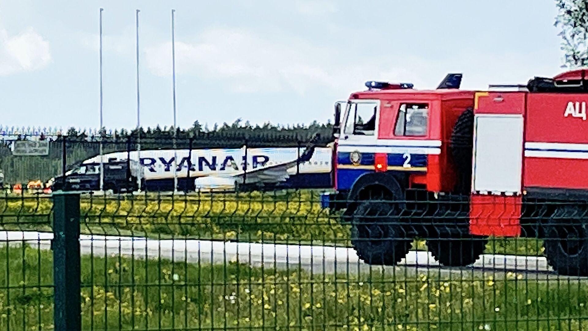 Letadlo společnosti Ryanair na letišti v Minsku - Sputnik Česká republika, 1920, 24.05.2021