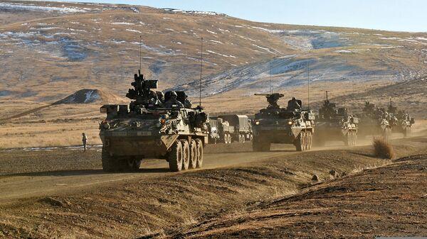 Американские бронированные машины Stryker ECP - Sputnik Česká republika