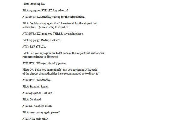 Dešifrované záznamy jednání dispečerů minského letiště s posádkou letadla Ryanair - Sputnik Česká republika